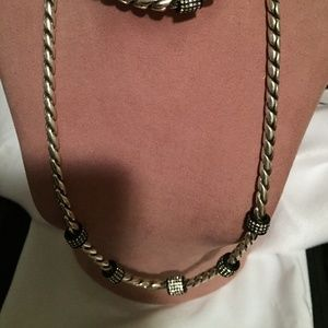 Brighton Silver and Black Bling necklace!